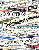 Titres de technologie Image libre de droits