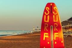 Titreyengol anterior de la playa de la salida del sol o de la puesta del sol Fotos de archivo libres de regalías