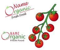 Tittle de restaurant avec la tomate Photographie stock libre de droits