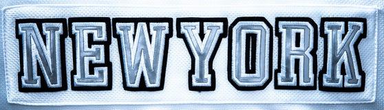 Tittle NUEVA YORK foto de archivo