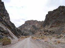 Titus Canyon Road Stock Afbeelding