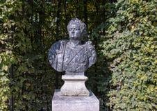 Titus Flavius Domitianus door Bartholomeus Eggers, Rijksmuseum-beeldhouwwerktuin, Amsterdam, Nederland royalty-vrije stock foto's