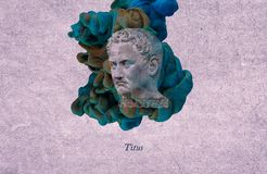 Titus romersk kejsare fotografering för bildbyråer