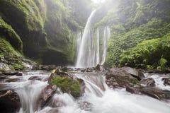 Tiu Kelep siklawa blisko Rinjani, Senaru, Lombok, Indonezja, Azja Południowo-Wschodnia Fotografia Royalty Free