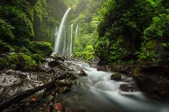 Tiu kelep waterfall with motion water and amazing place Royalty Free Stock Images