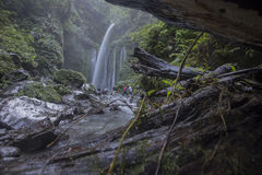 Tiu Kelep waterfall near Rinjani, Senaru, Lombok, Indonesia, Southeast Asia. Its attraction place in Lombok Royalty Free Stock Photos