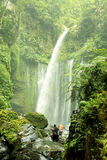 Tiu Kelep Waterfall. Waterfall in rinjani lombok Stock Photo