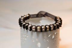 Tiulowa bransoletka z perłami Fotografia Royalty Free