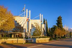 """Tivat, †de Montenegro """"9 DE DICIEMBRE DE 2018: Edificio del club náutico de Oporto Montenegro imagen de archivo libre de regalías"""