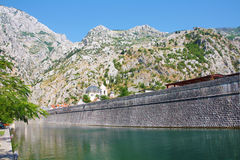 Tivat city wall. Ancient fortress wall of Tivat, Montenegro Stock Image