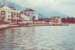 Tivat in Montenegro stock afbeeldingen