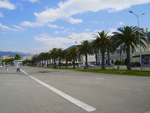 Tivat, Montenegro. The Adriatic sea coast in Montenegro, port on the coast of Montenegro Royalty Free Stock Photo