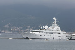 Tivat, Montenegro - JUNE 16: Golden Odyssey yacht in the port of Tivat  on JUNE 16, 2014 Stock Image