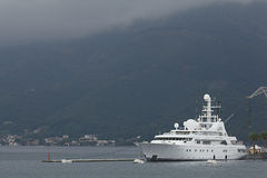 Tivat, Montenegro - JUNE 16: Golden Odyssey yacht in the port of Tivat  on JUNE 16, 2014 Stock Images