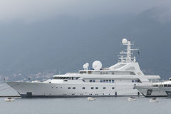 Tivat, Montenegro - JUNE 16: Golden Odyssey yacht in the port of Tivat  on JUNE 16, 2014 Royalty Free Stock Photos