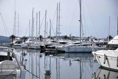 Tivat Porto Monténégro yachts Photographie stock libre de droits