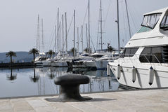 Tivat Porto Montenegro yachten Stockfotografie