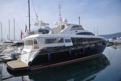 Tivat Porto Montenegro yachten Lizenzfreie Stockbilder