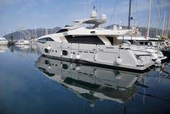 Tivat Porto Montenegro yachter Royaltyfria Foton