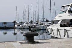 Tivat Porto Montenegro yachter Arkivbild