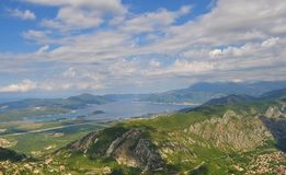 Tivat y la bahía de Kotor foto de archivo libre de regalías
