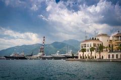 Tivat-Yachtjachthafen Stockbild