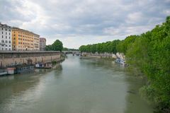 Tiver River, view from Ponte Giuseppe Mazzini in Rome Stock Photo