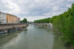 Tiver River, view from Ponte Giuseppe Mazzini Stock Photo