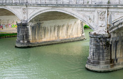 Tiver River, view from Ponte Principe Amadeo Savoia Acosta in Rome. Italy Stock Photography