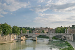 Tiver River, view from Ponte Principe Amadeo Savoia Acosta in Rome. Italy Royalty Free Stock Photo