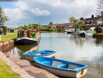 Tiverton-Kanal Devon Lizenzfreies Stockbild