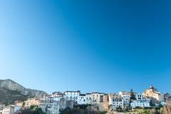 Tivissa landskap av Tarragona, Catalonia, Spanien Royaltyfria Bilder