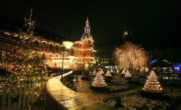 Tivoli庭院在新年 免版税库存图片