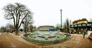 Tivoli庭院的中心 免版税库存图片