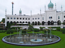 Tivoli庭院,哥本哈根丹麦 免版税库存照片