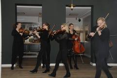 TIVOLI执行为媒介人的庭院音乐家 免版税库存照片