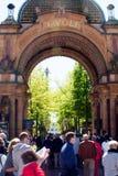 Tivoli庭院入口,哥本哈根 免版税库存照片