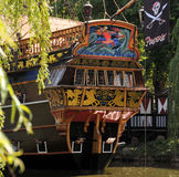 Tivoli Amusement Park. Rrestaurant in pirate ship in Tivoli Amusent Park in Copenhagen, Denmark Royalty Free Stock Image