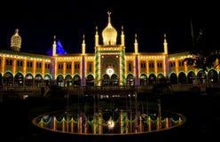 Tivoli. Amusement park, moorish Palace, the Nimb Hotel Royalty Free Stock Photography