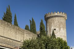 Tivoli Castle, or Castle of Rocca Pia, built in 1461 by Pope Pius II, Tivoli, Italy, Europe Royalty Free Stock Images