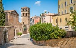 Tivoli in een de zomerochtend, provincie van Rome, Lazio, centraal Italië royalty-vrije stock fotografie