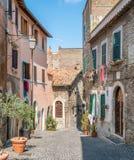 Tivoli em uma manhã do verão, província de Roma, Lazio, Itália central Imagem de Stock