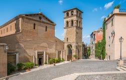 Tivoli em uma manhã do verão, província de Roma, Lazio, Itália central Fotografia de Stock Royalty Free