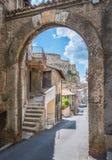 Tivoli em uma manhã do verão, província de Roma, Lazio, Itália central Fotos de Stock