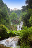 Tivoli. Falls on Gregorian Villa Royalty Free Stock Images