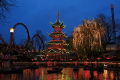 Tivoli Gardens in Copenhagen, Denmark Royalty Free Stock Images