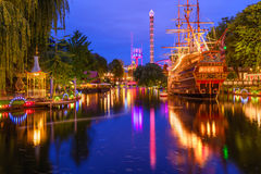 Tivoli Gardens of Copenhagen Stock Images