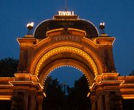 Tivoli Gardens in Copenhagen royalty free stock images