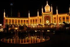 Tivoli Gardens at night. The famous theme park in Copenhagen Royalty Free Stock Image