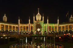 Tivoli Gardens at night Stock Photography